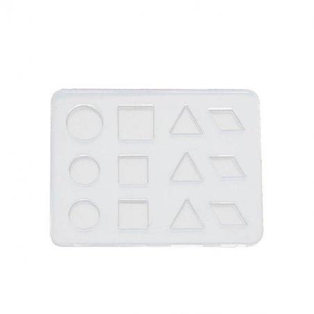 Силиконовая форма для заливки эпоксидной смолой Микс №6, 6,5х5см