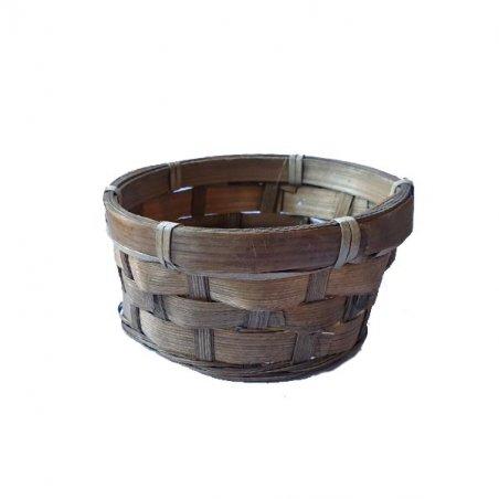 Корзинка коричневая плетеная, 10,5х6 см