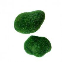 Декоративный камень с исскуственным мхом, 2 штуки
