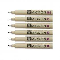 Линер PIGMA Micron (0.2), 0,3мм, Черный, Sakura (Китай)