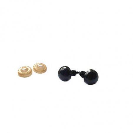 Пластиковые безопасные глаза 16 мм, цвет черный (пара)