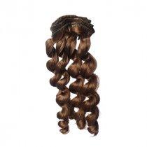 """Искусственные волосы """"Витой локон средний"""" на трессе 15 см, цвет коричневый №4"""