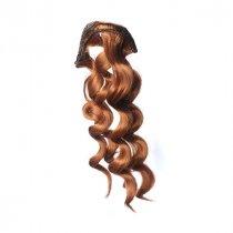 """Искусственные волосы """"Витой локон средний"""" на трессе 15 см, цвет медный №4"""