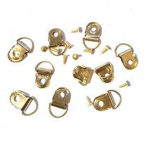 Петельки для заготовок D-006, цвет золото 1,8смх0,9 см, (10 штук)