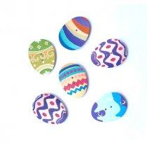 """Пуговицы из дерева для скрапбукинга """"Яйцо пасхальное"""", 2,3х3,1 см (3 штуки)"""