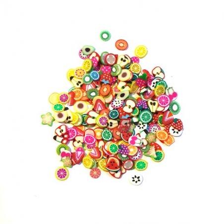 """Набор кукольной миниатюры """"Фруктово-ягодыне дольки из полимерной глины Fimo"""" 2,5 г"""