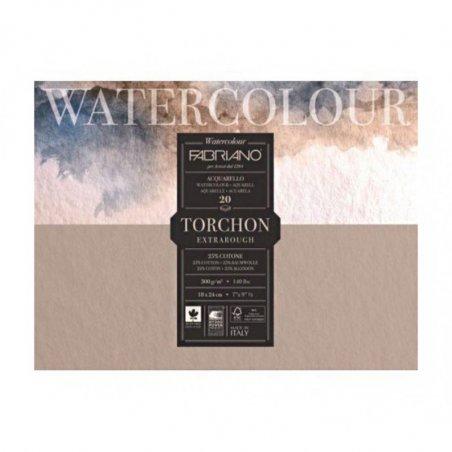 Склейка для акварели TORCHON 18х24 см, 300 г/м2, 20 листов, Fabriano