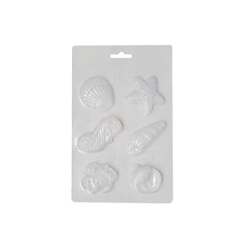 Пластиковая форма для мыла Морское ассорти, 11х18 см, Е6-098