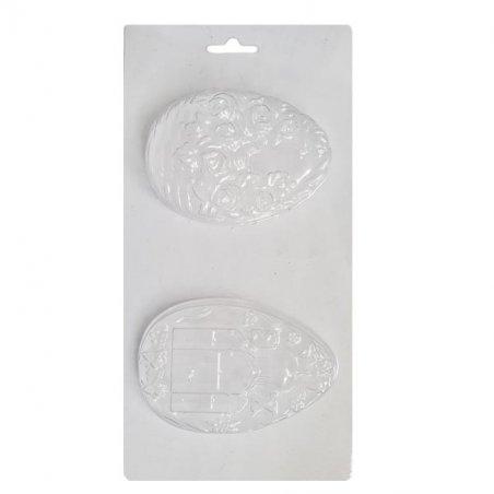 Пластиковая форма для мыла Яйцо, 8 штук, 12х23 см, В8-054