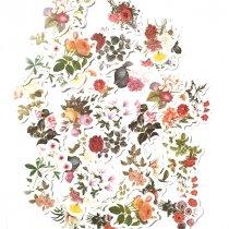 """Мини-стикеры (наклейки) """"Retro flowers"""" (46 шт)"""