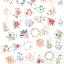 """Мини-стикеры (наклейки) """"Flower"""" (45 шт)"""