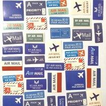 """Мини-стикеры (наклейки) """"Air mail"""" (45 шт)"""