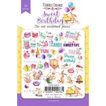 "Набор высечек для скрапбукинга "" Birthday Party""FDSCD-04020, 54 шт"