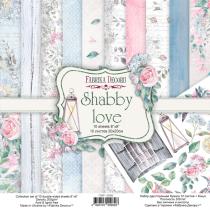 "Набор двусторонней бумаги 20х20 см ""Shabby love"", 200г/м2, 10шт"
