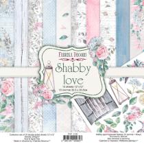 "Набор двусторонней бумаги 30,5х30,5 см ""Shabby love"", 200г/м2, 10шт"