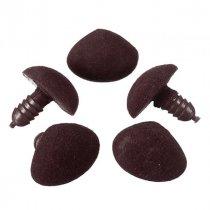 Носик бархатный (флок) для игрушек, цвет коричневый, 14х12 мм (1 штука)