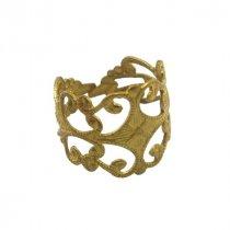 Ажурная основа для кольца с платформой №7, цвет - античное золото