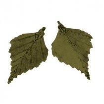 Двухсторонняя металлическая подвеска-кулон Лист большой, цвет античная бронза, 47*70 мм (1 штука)