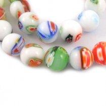 Бусины миллефиори круглые, 1 см, цвет микс, 10 штук