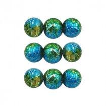 Бусины стеклянные с кракелюрным покрытием, 0,8 см, 10 штук