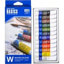 """Набор акварельных красок """"Water"""" BASICS, 12 цветов*12мл"""