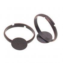 Основа для кольца с платформой 12 мм, цвет - медь