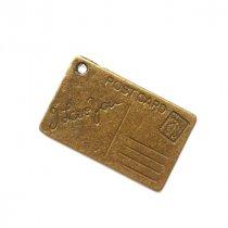 Односторонняя бронзовая металлическая подвеска Открытка , 16*26 мм (1 штука)