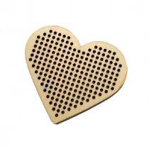 Деревянная заготовка для вышивки Сердце, 7,6х7 см, 1 штука