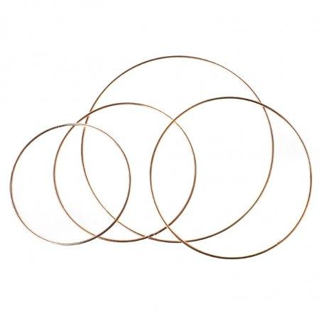 Металлическое кольцо (обруч) для декора, цвет золото, 10 см