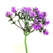"""Искусственная зелень """"Каменный цветок лавандово-зеленый"""" пика, 20 см"""