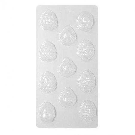 Пластиковая форма для мыла Ягодки, 12х23 см, В11-001