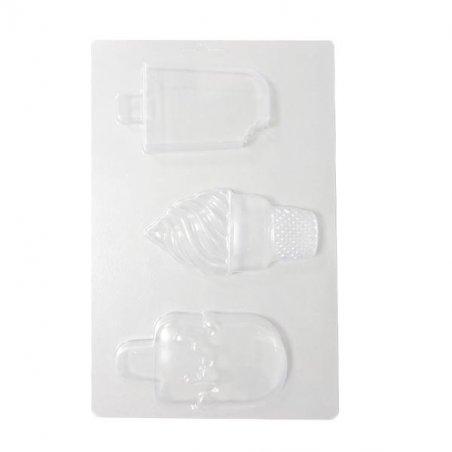 Пластиковая форма для мыла Мороженое №2, 15х24 см, С3-002
