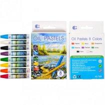 Набор восковых карандашей Oil Pastels, 8 цветов