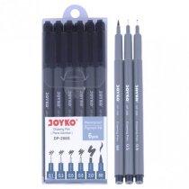 Набор черных линеров JOYKO DP-298S, 6 штук