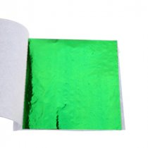 Поталь в листах, цвет - зеленый, 9х9 см, 25 листов