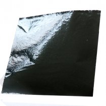 Поталь в листах, цвет - черный, 9х9 см, 25 листов