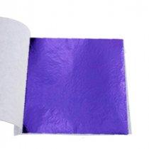 Поталь в листах, цвет - фиолетовый, 9х9 см, 25 листов