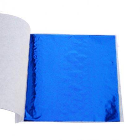 Поталь в листах, цвет - синий, 9х9 см, 25 листов