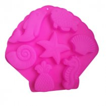 """Набор силиконовых форм для мыла на планшете """"Морские обитатели"""" , 26х24 см (7 форм)"""