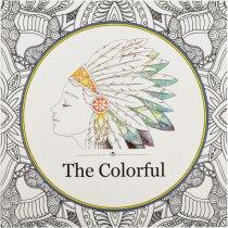 """Раскраска-антистресс """"The Colorful"""", В4,12 листов, 25х25 см"""