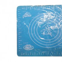Коврик силиконовый с разметкой, 26х29 см, цвет голубой