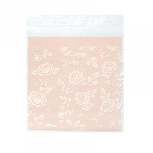 Пакетик с клейкой полоской 14х14 см розы