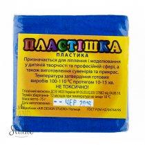 Полимерная глина пластишка/bebik лазурно-синий, 75 г, 0114