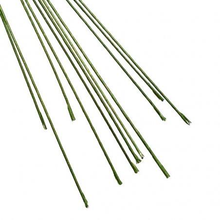 Проволока для стволов в тейп-ленте  зеленая, 0,8 мм, 30 см, 10 штук