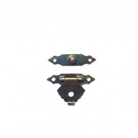 Замок металлический А-005-2, цвет старая латунь, 29х19 мм (1 штука)