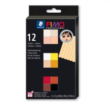 Набор полимерной глины FIMO Doll Art, 12 цветов по 25 г 8073