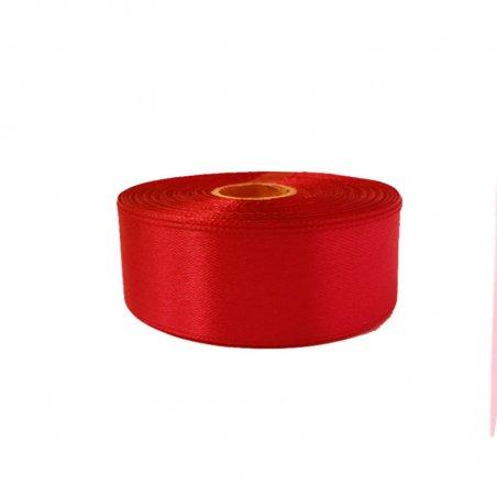 Атласная лента, цвет красный, 50 мм (22 метра)