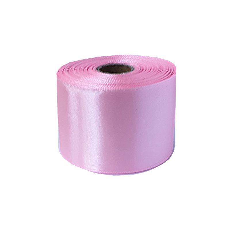 Атласная лента, цвет нежно розовый, 50 мм (22 метра)
