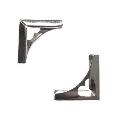 Уголок металлический С-1062, цвет сталь 22х22х5 мм (2 штуки)