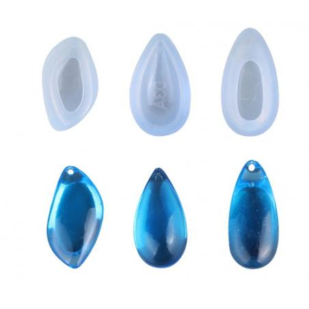 """Набор силиконовых форм для заливки эпоксидной смолой """"Подвески"""", 3 штуки"""